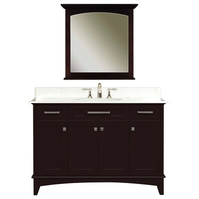 Paton 48 Single Bathroom Vanity Set with Mirror