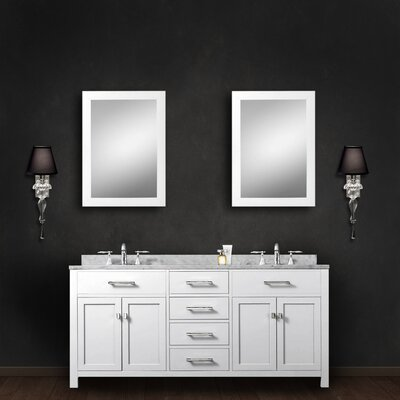 Raven Modern 60 Double Bathroom Vanity Set with Mirror