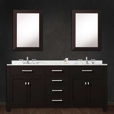 Raven 60 Double Bathroom Vanity Set with 2 Mirror