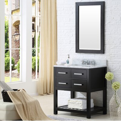 Fran 30 Single Bathroom Vanity Set with Mirror Base Finish: Espresso