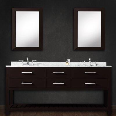 Fran 60 Double Bathroom Vanity Set with Mirror Base Finish: Espresso
