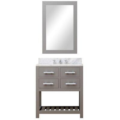 Fran 30 Single Sink Bathroom Vanity Set with Mirror