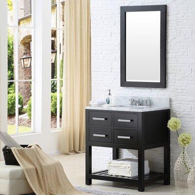 Berghoff Modern 30 Single Sink Bathroom Vanity Set with Mirror Base Finish: Espresso