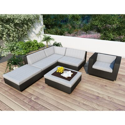 Beach Grove Park Terrace 6 Piece Deep Seating Group with Cushions Finish: Black