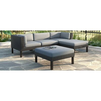 Oakland 5 Piece Lounge Seating Group with Cushion