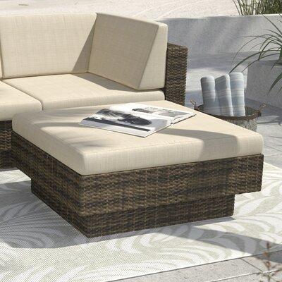 Park Terrace Ottoman with Cushion Finish: Saddle Strap Weave