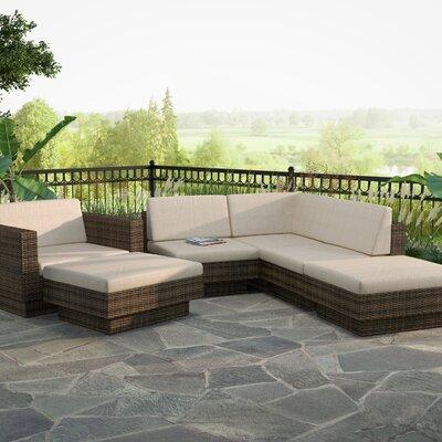 Grove Park Terrace Rattan Sunbrella Sectional Set Cushions 716 Product Image