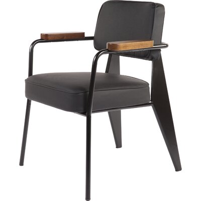 The Myson Arm Chair Finish: Black / Walnut