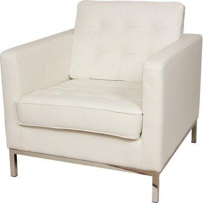 Draper One Seat Sofa Chair Upholstery: White