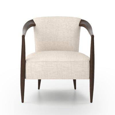 Miramonte Arm Chair Upholstery: Beige, Finish: Dark Brown