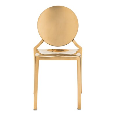 Ropp Dining Chair Finish: Gold