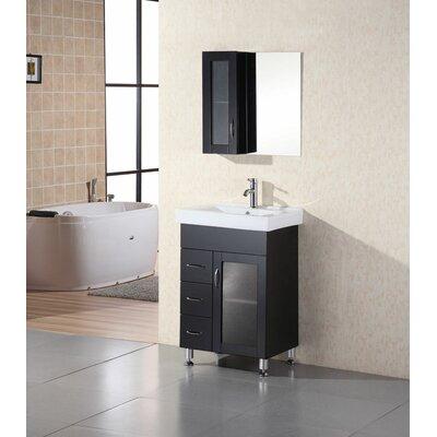 Pratt 24 Single Bathroom Vanity Set with Mirror