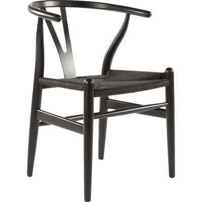 The Wishbone Side Chair Color: Black & Black