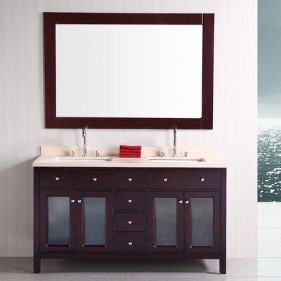 McQueen  61 Double Bathroom Vanity Set
