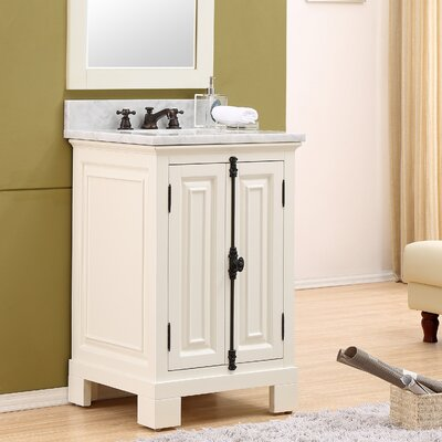 Freemont 24 Single Bathroom Vanity Set Base Finish: White