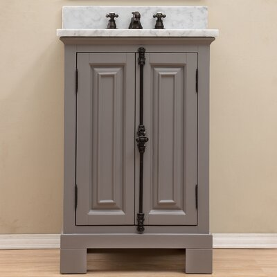 Freemont 24 Single Bathroom Vanity Set with Mirror Base Finish: Gray