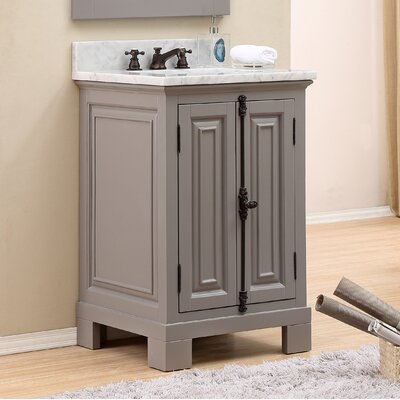 Freemont 24 Single Bathroom Vanity Set with Faucet Base Finish: Gray