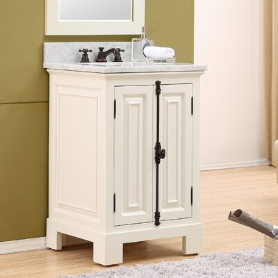 Freemont 24 Single Bathroom Vanity Set with Faucet Base Finish: White
