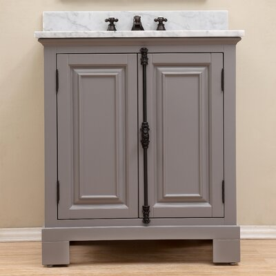 Freemont 30 Single Bathroom Vanity Set with Mirror Base Finish: Gray