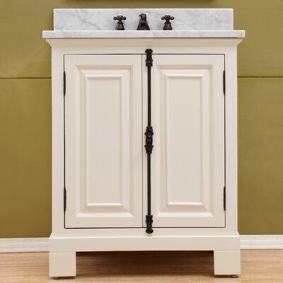 Freemont 30 Single Bathroom Vanity Set with Mirror Base Finish: White