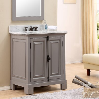 Freemont 30 Single Bathroom Vanity Set with Faucet Base Finish: Gray