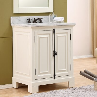 Freemont 30 Single Bathroom Vanity Set with Faucet Base Finish: White