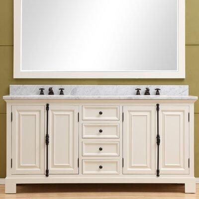 Freemont 72 Double Bathroom Vanity Set Base Finish: Off-White