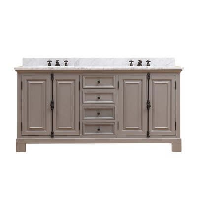 Freemont 72 Double Bathroom Vanity Set with Faucets Base Finish: Gray