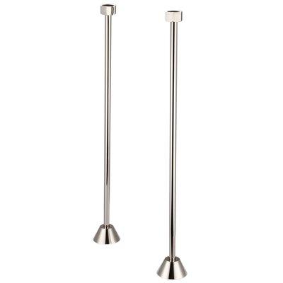 Aviston Straight Supply For Claw Foot Or Elegant Tubs Finish: Polished Nickel