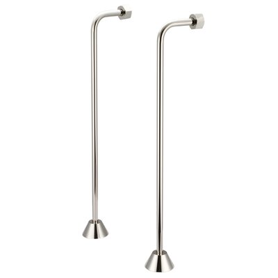 Aviston Single Offset Supply For Claw Foot Or Elegant Tubs Finish: Polished Nickel