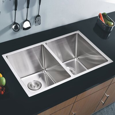 Brier 30.88 x 17.75 Double Undermount Kitchen Sink