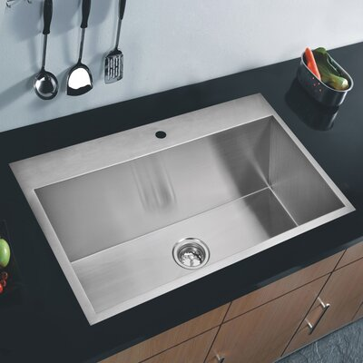 Brier 33 x 22 Single Drop-In Kitchen Sink