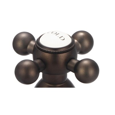 Spout Wall Mount Vessel/Lavatory Faucet Finish: Oil Rubbed Bronze, Style: Cross Handles