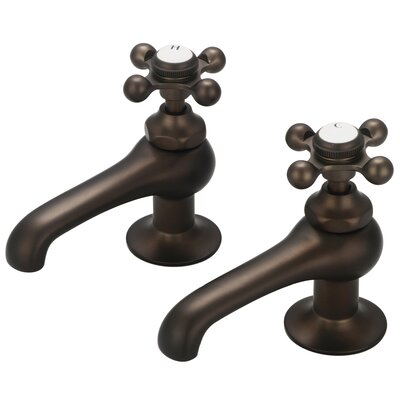 Stonington Basin Cocks Lavatory Faucet Finish: Oil Rubbed Bronze, Style: Cross Handles