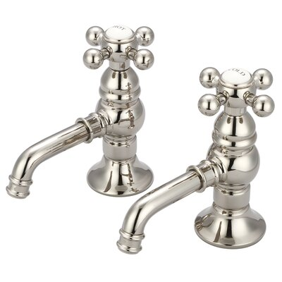 Stonington Basin Cocks Lavatory Faucet Finish: Polished Nickel, Style: Cross Handles