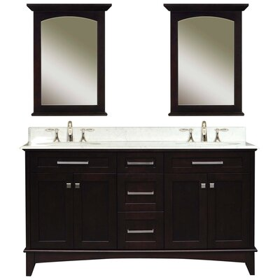 Paton 60 Double Bathroom Vanity Set with Mirror