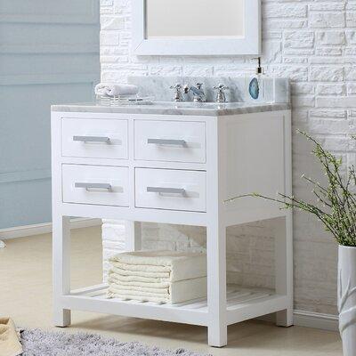Berghoff 30 Single Bathroom Vanity Set Base Finish: Pure White