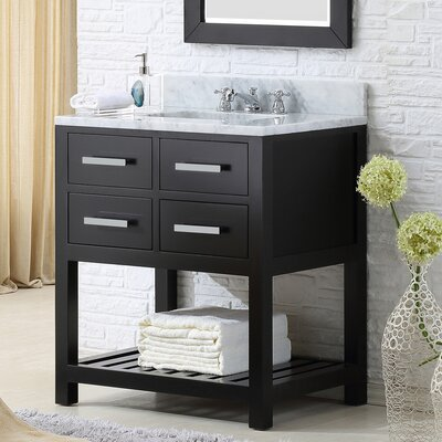 Fran 30 Single Bathroom Vanity Set Base Finish: Espresso
