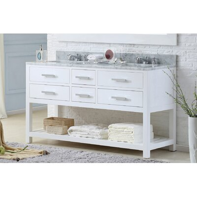 Berghoff 60 Free-Standing Double Bathroom Vanity Set Base Finish: Pure White