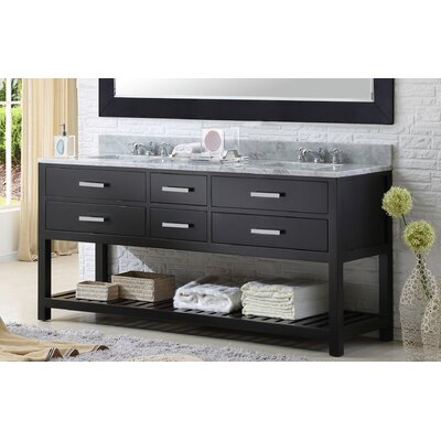 Fran 60 Double Bathroom Vanity Set Base Finish: Espresso