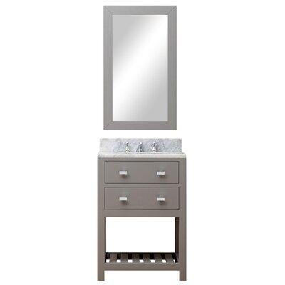Berghoff 24 Wood Base Single Sink Bathroom Vanity Set with Mirror