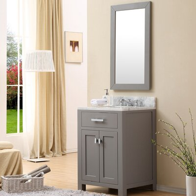 Raven 24 Single Sink Bathroom Vanity Set with Mirror