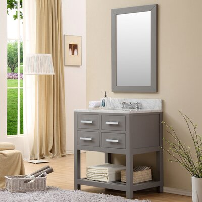 Fran 30 Single Sink Bathroom Vanity Set Base Finish: Cashmere Gray