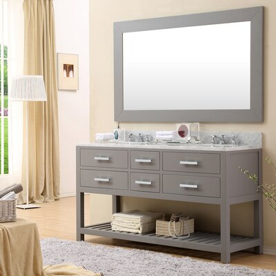 Berghoff 60 Double Sink Bathroom Vanity Set Base Finish: Cashmere Gray