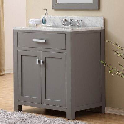 Raven 30 Wood Base Single Sink Bathroom Vanity Set