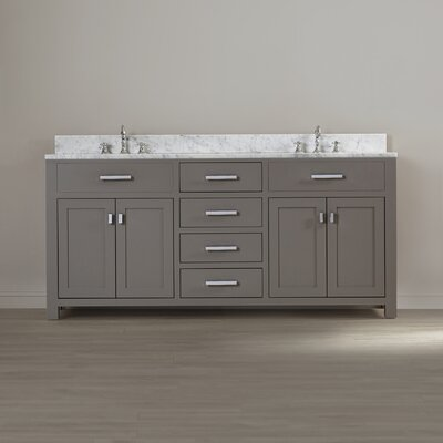 Fran 72 Double Sink Bathroom Vanity Set