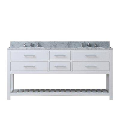 Berghoff 72 Double Bathroom Vanity Base Finish: Pure White