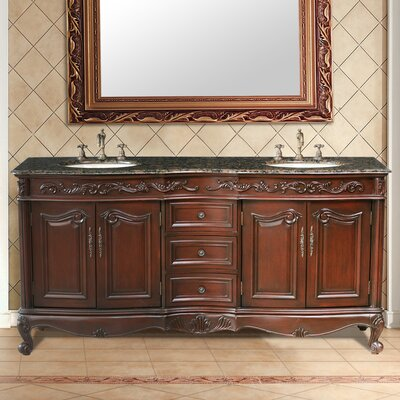 Bourne 72 Double Bathroom Vanity Set Top Finish: Granite