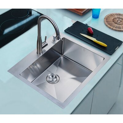 Brendel 25 x 22 Overmount Single Basin Kitchen Sink