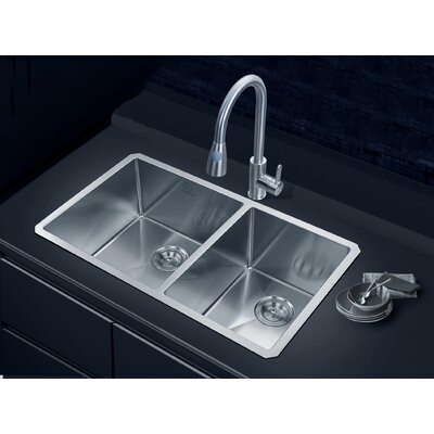 Fullerton 33 x 19 Double Basin Undermount Kitchen Sink